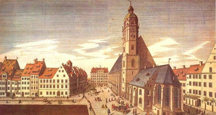 Thomaskirch and Thomasschule, Leipzig 1735