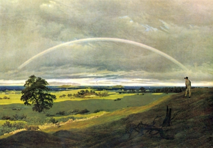 Landscape with Rainbow, Caspar Friedrich