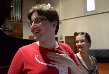 Robert and Kate Macfarlane in rehearsal