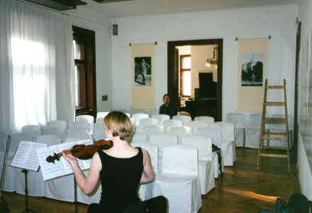 Helen Ayres at the Schoenberg Centre, 2001